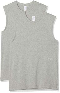Calvin Klein Muscle Tank 2pk Maillot De Corps, Gris (Grey Heather 020), Unique (Taille Fabricant: Small) Femme