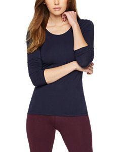 Iris & Lilly Justaucorps Thermique à Manches Longues Femme, Bleu (Navy), 36 (Taille fabricant: X-Small)
