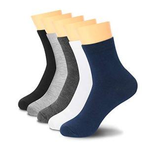 Lantch 5 paires de socquettes! – chaussettes sport longues ,l'utilisation quotidienne Chaussette Hommes et Femmes socquettes (1 Multicolore 5pc, 39-44)