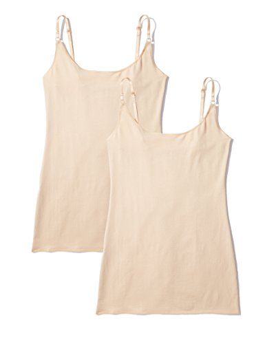 Iris & Lilly Body Vest, Pack of 2 Maillot De Corps, Beige (Classic Nude), Large, Lot de 2