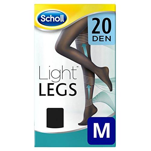 Scholl lumière Pieds Collants de compression 20, den Noir, Medium