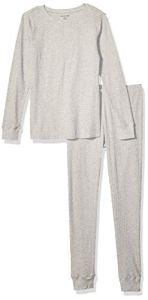 Amazon Essentials Thermal Long Underwear Set, Gris, US XXL (EU 3XL-4XL)