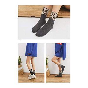 Bella & Flores Lot de 5 paires de chaussettes de léopard 35-39 Multicolore – – 35-38