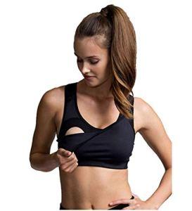 BOOB® Soutien-gorge de sport innovant avec focntion allaitement soutien-gorge de grossesse soutien-gorge de grossesse, taille XL, noir