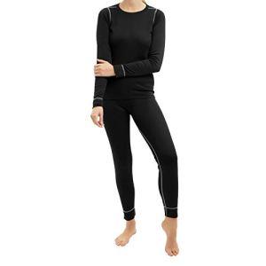 CFLEX – Ensemble de sous-vêtements thermiques – technologie POLARDRY – femme – noir/gris – taille S