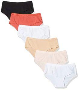 Dim Boxer Les Pockets Coton ECODIM x6, Multicolore (Lot Mode Pomme Gala 9gy), 40 (Taille Fabricant:40/42) 6 Femme