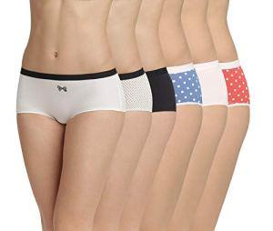 Dim Boxer Les Pockets Coton X6, Multicolore (Lot Nœud Noir/Pois Rétro 9gw), 40 (Taille Fabricant:40/42) 6 Femme