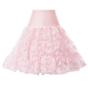Femme Jupon Années 50 Vintage en Tulle Rockabilly Petticoat Taille S CL8992-31