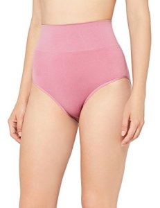 Iris & Lilly CuLotte Taille Haute Gainante Sans Couture Femme, Rosa (Old Rose), 36