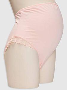 LC WAIKI sous-vêtement en Coton avec Dentelle – Rose – X-Large