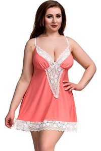 Nine X- S-7XL, Nuisette vénitienne luxueuse, Made in EU, Grande Taille Coral 4XL