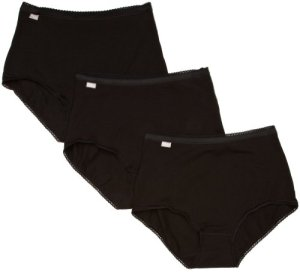 Playtex – Culotte Femme Cherish Maxi Brief 3 Pack – Noir (Black) – FR : 42 (Taille fabricant : 12)
