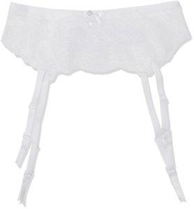 Palmers Ornamental Lace Srumpfbandgürtel Porte Jarretelles, Blanc (Blanc 100), L Femme