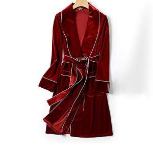 YAzNdom Pyjama De Dames Robe De Mariée Rouge Femmes Peignoir 2 Pyjama De Vacances for Votre Petite Amie, Épouse Et Mère Pajamas Set De Dames (Color : Red, Size : L)
