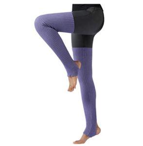 ACVIP Jambières longues pour femme avec trou au niveau du talon Taille unique Violet clair