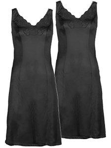 Cybele – Lot de 2 Fond de Robe 14235 – Femme Noir FR 48