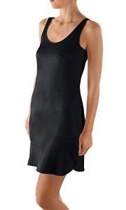Nina von C. Elegance Robe de sous-vêtement à bretelles Largeur 90 cm 38-50 Chemise viscose – Noir – 46