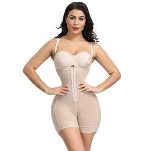 3°Amy Lingerie Sculptante Bodys Plus Size Femmes Full Body Minceur Shapewear Underbust mi Cuisse Shaper Tummy Contrôle continu Postpartum Corps Ceinturon #a (Color : Nude Body Shaper, Size : XXL)