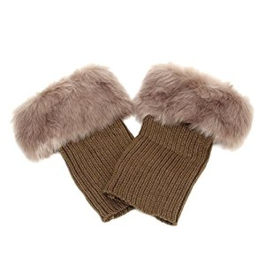Butterme femmes d'hiver en fausse fourrure jambières bottes chaussettes jambières chaussettes tricotées Boot Topper Cuff