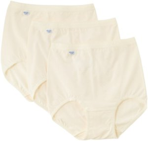 Sloggi – Culotte Gainante – Taille haute – Uni – 3 Femme – Blanc – XXXXX-Large