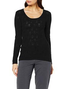 Damart Tee Shirt Manches Longues Haut Thermique, (Noir 56678-17010-), 42 (Taille Fabricant:M) Femme