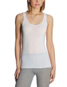 Schiesser (SCHGX) – Maillot de Corp – Femme – Blanc (100-Weiss) – FR : 38 (Taille Fabricant : S)