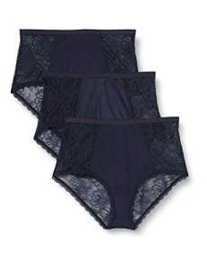 Iris & Lilly Slips Femme, Lot de 3, Bleu nuit, 3XL, Label: 3XL