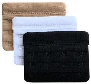 Chanie Femme Lot de 3 Doux Confortables Extensions de soutien-gorge 4 Crochets, 5,8cm x 7,6cm