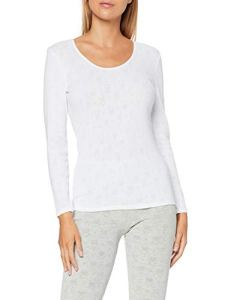 Damart Tee Shirt Manches Longues Haut Thermique, (Blanc 56678-1010), 34 (Taille fabricant:XS) Femme