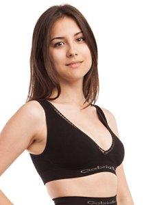 Gabrialla NBM-520, Soutien-Gorge Maternité Athlétique de Support de Repos/Sommeil en Fibre de Lait Naturelle et Hydratante, Sous-vêtements femme enceinte confortable, sans couture