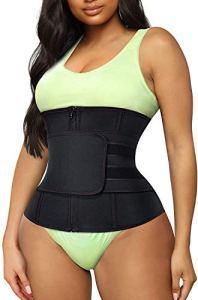 Gotoly Corset taille amincissante Body Shaper Waist Trainer Bustier réglable pour femme – Noir – S