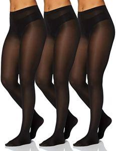 Iris & Lilly by Wolford Collants Femme, Lot de 3, Noir (Black), L, Label: L