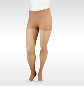 Juzo Soft Pantyhose 20-30mmHg Open Toe, II, Beige by Juzo