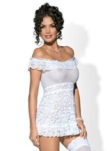 OBSESSIVE Flores Robe Blanc Taille L/XL