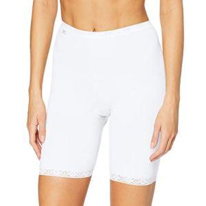 sloggi Basic+ Long, Short Femme, Blanc (White 0003), 46