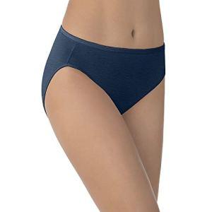 Vanity Fair Collant haute coupe pour femme – Bleu – 8 US X-Large