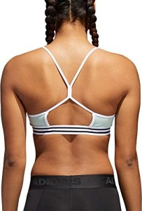 adidas Women's Training Crossback 3-Stripe Hem Sports Bra
