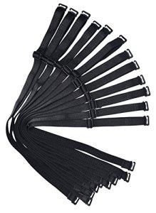 Bretelles de rechange pour soutien-gorge d'épaule 12 mm 15 mm 18 mm de largeur élastique réglable amovible multicolore – Noir – Large