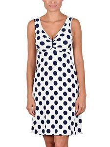 Cybele – Robe de Plage 7-740010 – Femme – Blanc – Bleu foncé – FR 46