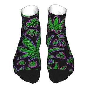 HLw Design élégant à hauteur genou – Motif feuilles multicolores