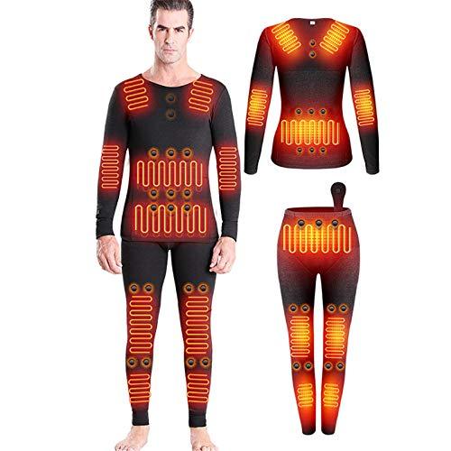 HWZZ L'ensemble De sous-Vêtements Chauffants Comprend 28 Aimants Énergétiques Et 12 Zones Chauffantes en Fibre De Carbone, Adaptés Aux Sports De Plein Air d'hiver, Unisexe,Men's,XXL
