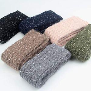 Jambières d'hiver en laine pour femme Motif à pois Couleur : goudron