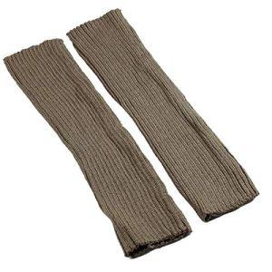 JINSUO NWXZU Chaussettes Longues en Maille Femmes Outdoor Genou Haute élastique Jambières Lady Chaud Slim Roche Sock (Color : Khaki)