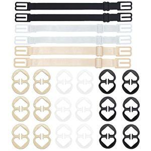 LABOTA Lot de 24 clips pour bretelles de soutien-gorge, clips croisés pour dissimuler le décolleté et élastiques antidérapants pour femmes et filles