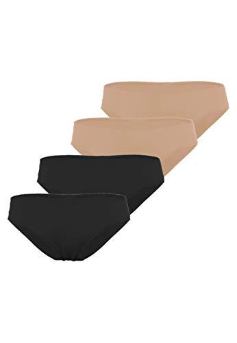 Lovable Basic Micro sous-vêtement, Skin + Nero, Medium Femme