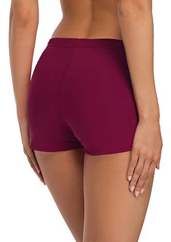 Merry Style Short de Bain Sport Vêtements d'Été Femme L23L1(Bordeaux (5288),EU 42 (FR 44))