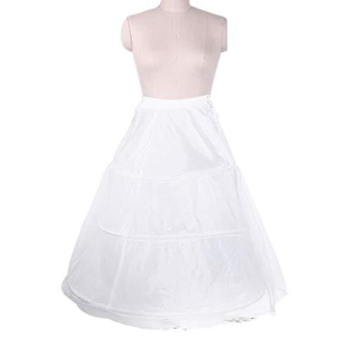 MYhose 3 cerceaux de mariée Crinolines Jupon Agitation Robe de Bal Robe de mariée Jupon