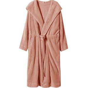 Pyjama De Dames Robe De La Femme Lounge Classique Pyjama À Capuche Costume De Pyjama Nouvel an De Lune De Miel Cadeau Saint Valentin Costume Longues Pantalon Manches (Couleur : Rose, Taille : 155)