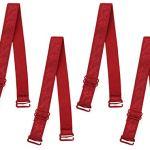 uxcell Bretelles élastiques réglables pour femme – Rouge – 18 mm Lur
