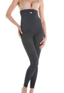 Yaluronica 629 (Anthracite, XXL) – Legging Gainant Anti-âge Taille Haute avec Acide hyaluronique Effet Push-up Fesses